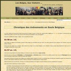 Conquête de la Gaule - Chronologie des événements en Gaule Belgique