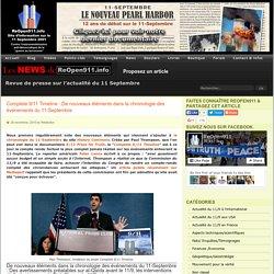 Complete 9/11 Timeline : De nouveaux éléments dans la chronologie des événements du 11-Septembre