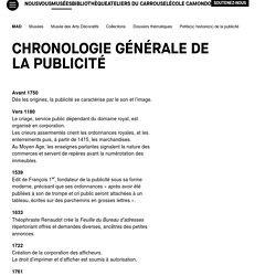 Chronologie générale de la publicité