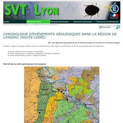 SVT Lyon [Chronologie d'événements géologiques dans la région de Langeac (Haute-Loire)]