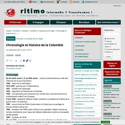 Chronologie et histoire de la Colombie