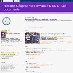 Les documents: La Guerre froide : chronologie interactive