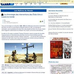 La chronologie des interventions des États-Unis à travers le monde