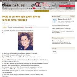 Toute la chronologie judiciaire de l'affaire Omar Raddad