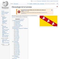 Chronologie de la Lorraine