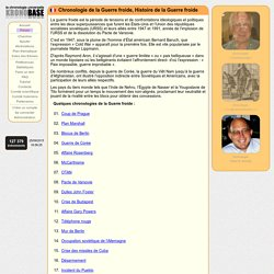 Histoire de la Guerre froide - Chronologie de la Guerre froide - Faits marquants de Guerre froide avec Kronobase.org