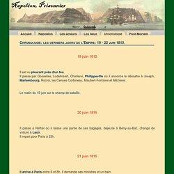 Chronologie: les derniers jours - NapoleonPrisonnier.com