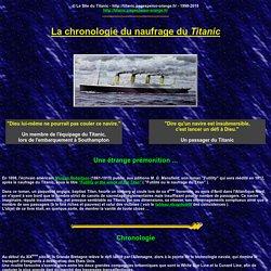 La chronologie du naufrage du Titanic