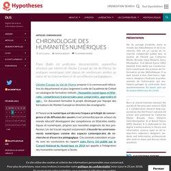 Chronologie des humanités numériques