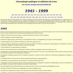 Chronologie politique et militaire du Laos