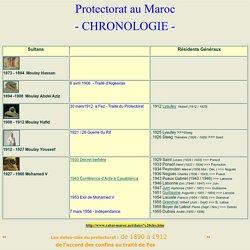 Protectorat 1890-1912 accord des confins au traité de Fès