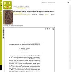 La chronologie de la céramique protocorinthienne