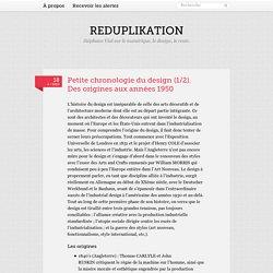 Petite chronologie du design (1/2). Des origines... - Reduplikation