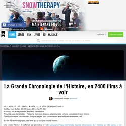 La Grande Chronologie de l'Histoire, en 2400 films à voir - Liste de 2403 films