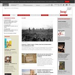 Accueil - INRAP - institut national de recherches archeologiques preventives