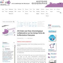 4H-Créer une frise chronologique collaborative sur les temps forts de la Révolution française