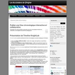 Publier une frise chronologique interactive et collaborative