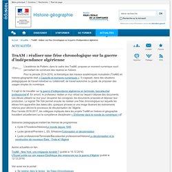TraAM : réaliser une frise chronologique sur la guerre d'indépendance algérienne-Histoire-géographie-Éduscol