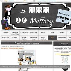 [La classe de Mallory] - Frise chronologique interactive