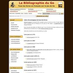 Liste chronologique de tous les livres en français sur le jeu de Go