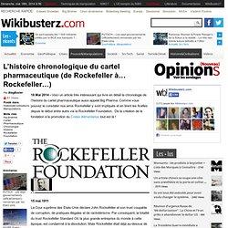 L'histoire chronologique du cartel pharmaceutique (de Rockefeller à… Rockefeller…)