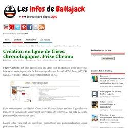 Création en ligne de frises chronologiques, Frise Chrono