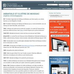 ABBATIALE ET CLOÎTRE DE MOISSAC - repères chronologiques
