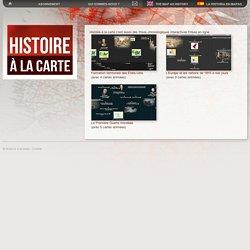 Histoire à la carte c'est aussi des frises chronologiques interactives