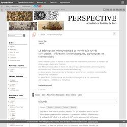 La décoration monumentale à Rome aux xie et xiiesiècles: révisions chronologiques, stylistiques et thématiques