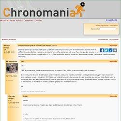Chronomania - Décomposition prix de revient d'une montre