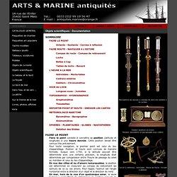 Instruments de navigation : Octants, sextants, baromètres, chronomètres, navisphères - Documentation Arts & Marine Antiquités