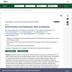 Chrononutrition and Polyphenols: Roles and Diseases