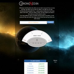 ChronoX.co.in - Get free bitcoins every 5 minutes.