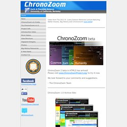 ChronoZoom: A Timeline for Big History