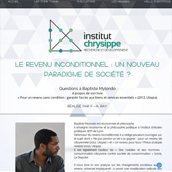 Chrysippe - Interview Baptiste Mylondo