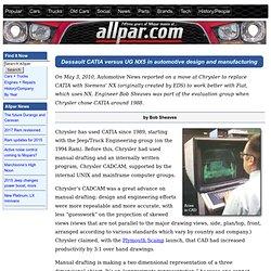 Chrysler CAD-CAM history and Dassault CATIA versus UG NX5