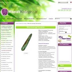Bâton de massage Chrysoprase BTMCRISP01 : Minerals Madagascar: Pierres de collection,lithothérapie,décoration,bijoux ...