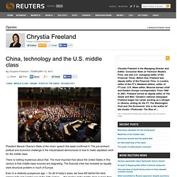 China, technology and the U.S. middle class