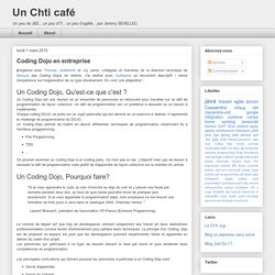Un Chti café: Coding Dojo en entreprise