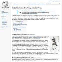 Tai-chi-chuan style Yang famille Tung