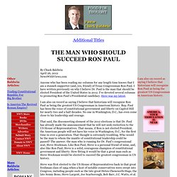 Chuck Baldwin -- The Man Who Should Succeed Ron Paul