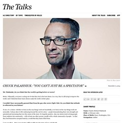 Chuck Palahniuk Interview