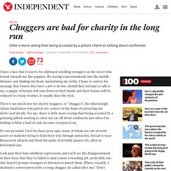Chuggers are bad for charity in the long run
