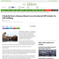 Chukchi Sea's Hanna Shoal Area Declared Off-Limits To Oil Drilling
