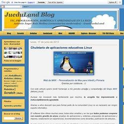 Chuletario de aplicaciones educativas Linux