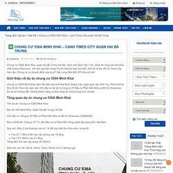 Chung cư 536A Minh Khai - cạnh Times City quận Hai Bà Trưng - Nhà Đất VIP Mua bán nhà đất chuyển nhượng