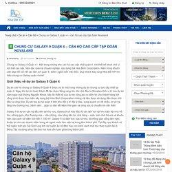 Chung cư Galaxy 9 quận 4 - căn hộ cao cấp tập đoàn Novaland - Nhà Đất VIP Mua bán nhà đất chuyển nhượng