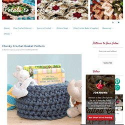 Chunky Crochet Basket Pattern