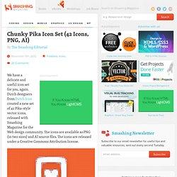 Freebie — Chunky Pika Icon Set (42 Icons, PNG, AI)