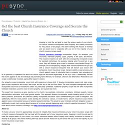 Get the best Church Insurance Coverage and Secure the Church